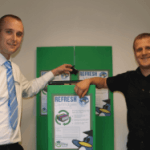 On left - Ian Hamilton, Business Account Manager and right - Christopher Holgate, Company Director