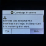 """""""Remove and Reinstall the Indicated Cartridge"""" HP 302 & HP 304 Symbols"""