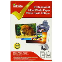 50 Sheets of Inkrite Glossy Photo Paper 6x4