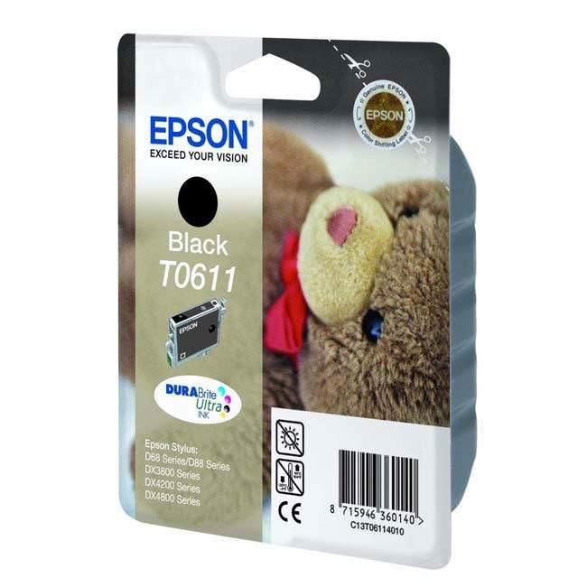 Original Epson T0611 Black Ink Cartridges (c13t06114010)
