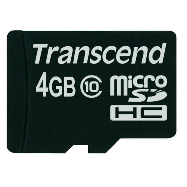 Transcend Micro Sdhc 4gb Class 10 Premium Memory Card With Adapter (ts4gusdhc10)