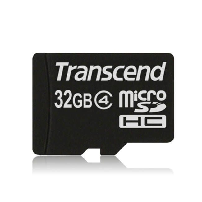Transcend Micro Sdhc 32gb Class 4 Memory Card With Adapter (ts32gusdhc4)