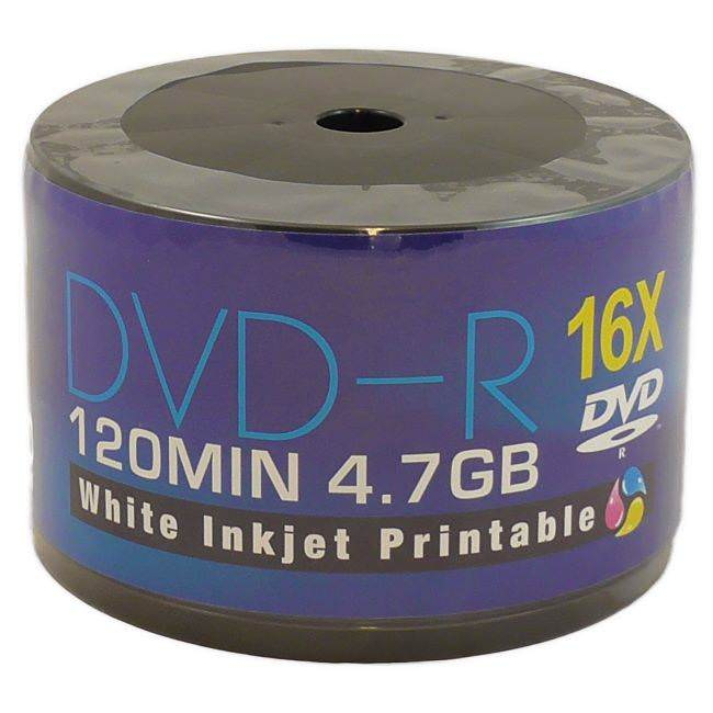 image about Dvd R Printable called Aone Total Experience Printable 16x DVD-R 4.7GB - 50 DiscsAone