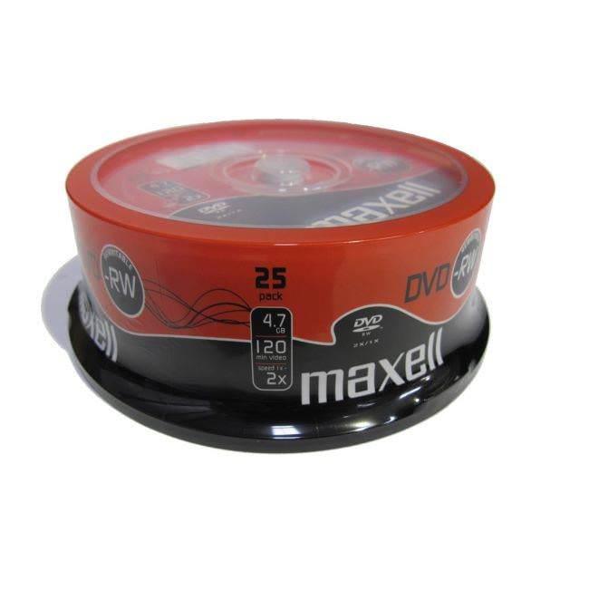 Maxell 1x-2x Dvd-rw 4.7gb - 25 Discs (275893)