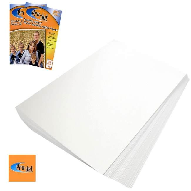 A4 Premium Matte Double Sided Paper 130 GSM 25 Sheets for HP Deskjet Printers