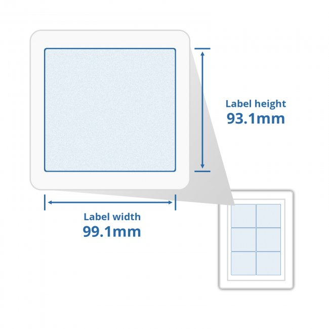 a4 self adhesive address labels 6 labels per page 100