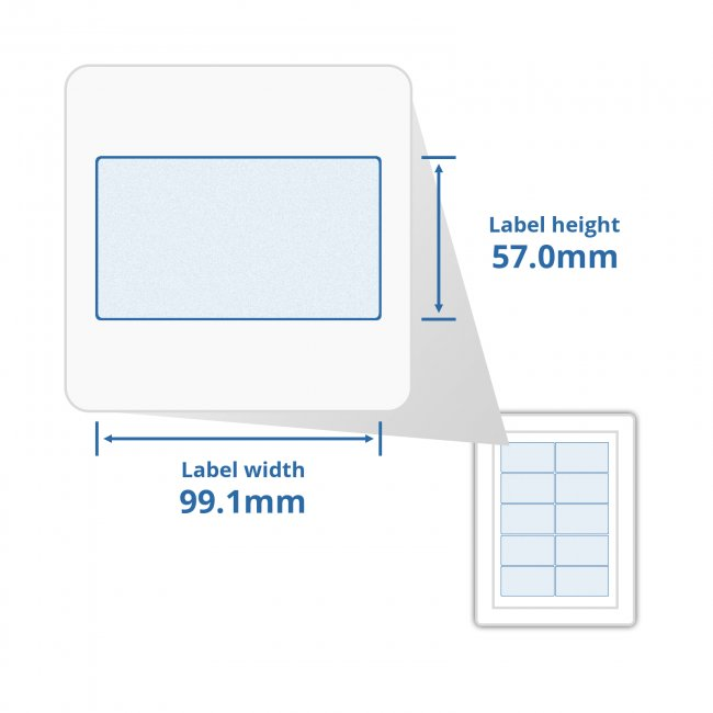 a4 self adhesive address labels 10 labels per page 100