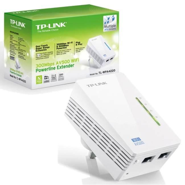 Powerline TP-Link TL-WPA4220 Extender WiFi AV500 300Mbps ...
