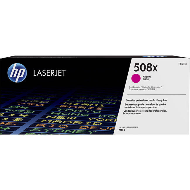Original Hp 508x High Capacity Magenta Toner Cartridge (cf363x)