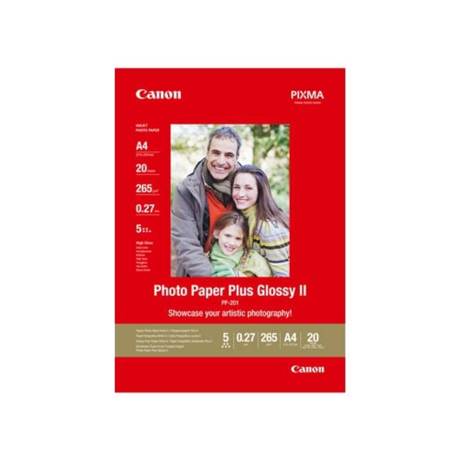 Original Canon Sg-202 Photo Paper Plus Ii A4 Glossy 275gsm - 20 Sheets (2311b019)