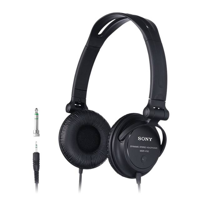 Sony Foldable Monitor Dj Headphones With Swivel Cups - Black (so-mdr-v150bk)