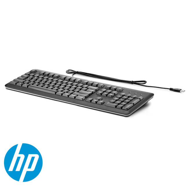 Hp Durable Standard Uk Wired Usb Pc Computer Keyboard (qy776aa#abu)