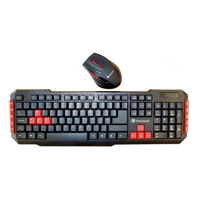 Dynamode Wireless Usb Nano Gaming Keyboard And Optical Mouse Desktop Set, Black/red (kmg9000-w)