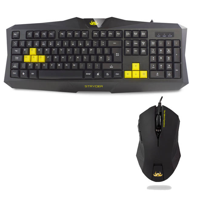 Sumvision Nemesis Stryder Usb Desktop Gaming Keyboard And Mouse Combo Set (kmc-gaming-stryder)