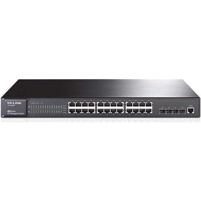 Tp-link Tl-sg5428 24 Port Jetstream Gigabit L2 Managed Switch / 4 Sfp Slots