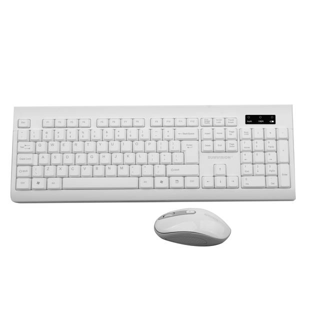 Sumvision Paradox V Wireless Keyboard And Mouse Desktop Set -white (sv-30)