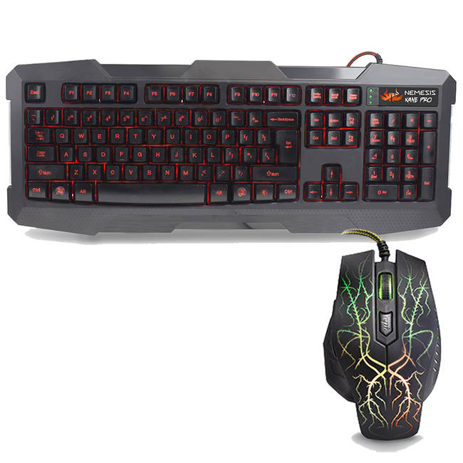 Sumvision Nemesis Kane Pro Led Multi-colour Backlit Gaming Keyboard & Mouse Set (kmc-gaming-kane