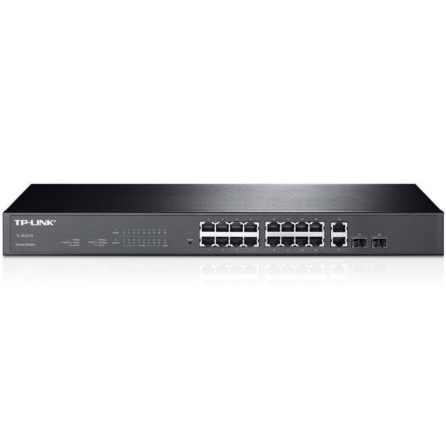 Tp-link Tl-sl2218 16 Port 10/100mbps + 2 Port Gigabit Port Managed Smart Switch