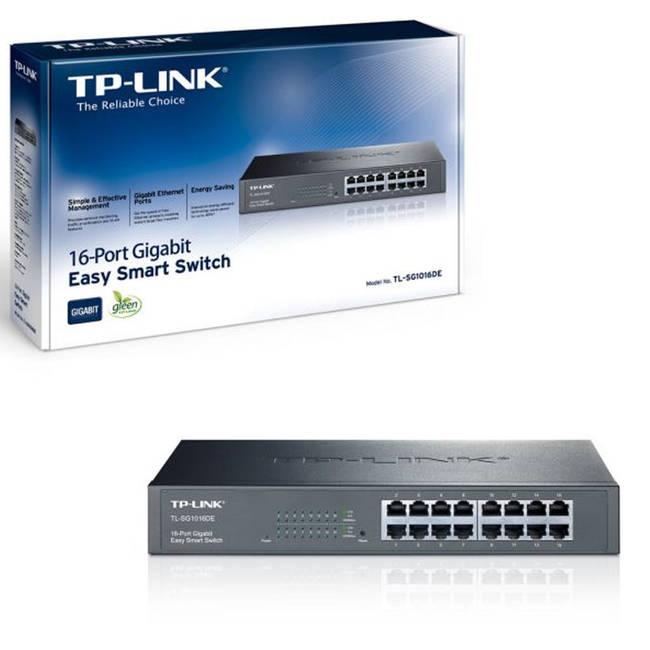 Tp-link Tl-sg1016de 16 Port Gigabit Easy Smart Switch Unmanaged Rackmountable
