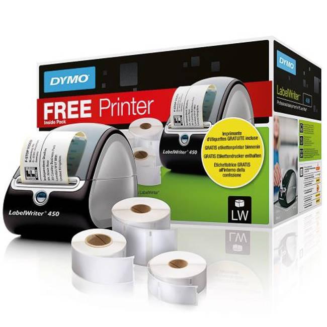 Dymo 3 LW Label Rolls & LabelWriter 450 Label Printer Promotion Pack  (1896042) S0838810