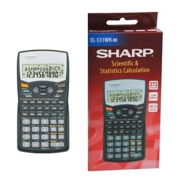 sharp calculator. sharp scientific \u0026 statistical calculator with 2 line display - black (el-531wh-bk)