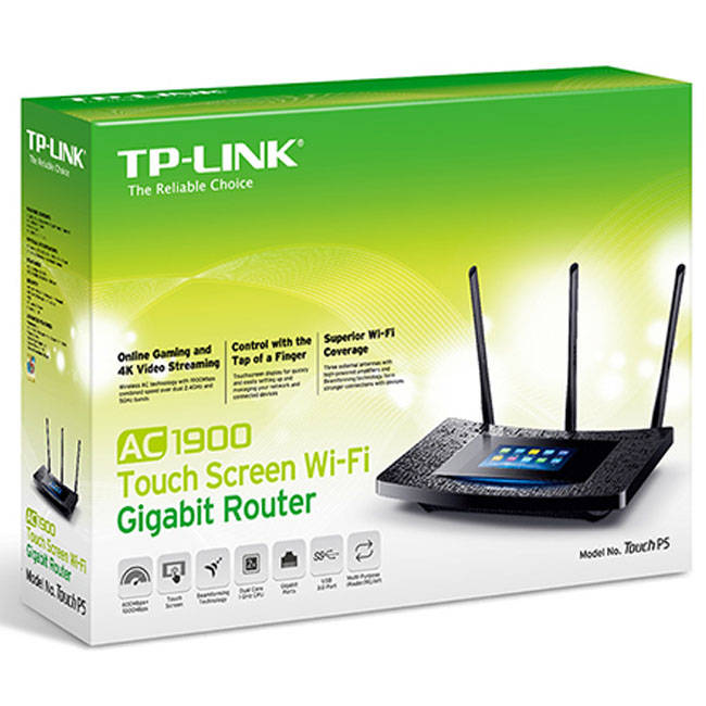 Tp-link Touch P5 Touch Screen Ac1900 (600+1300) Wireless Dual Band Cable Router