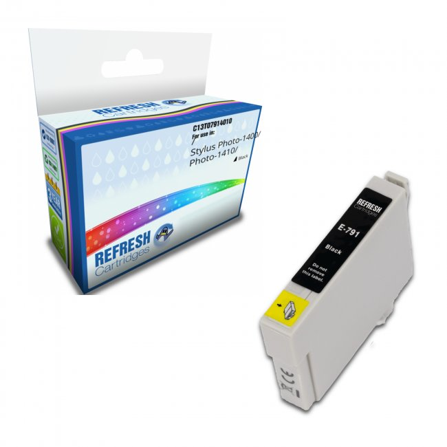 Remanufactured Epson T0791 Black Ink Cartridges (c13t07914010)