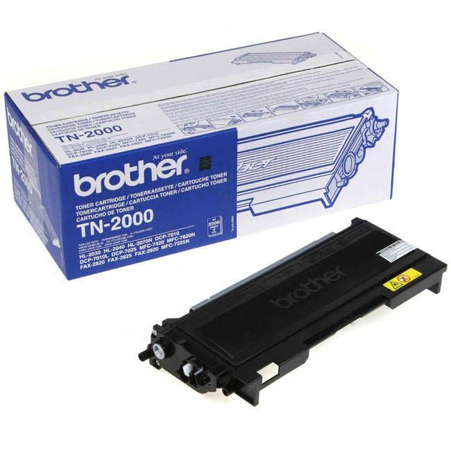 Original Brother Tn-2000 Black Toner Cartridge (tn2000)
