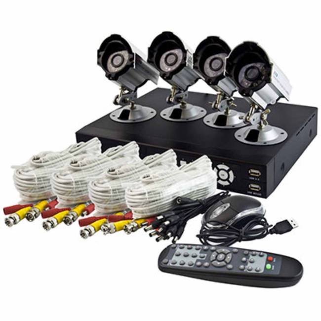 Tutis Home Office 8 Channel Dvr Cctv Security System 4 Cameras With Night Vision 500gb