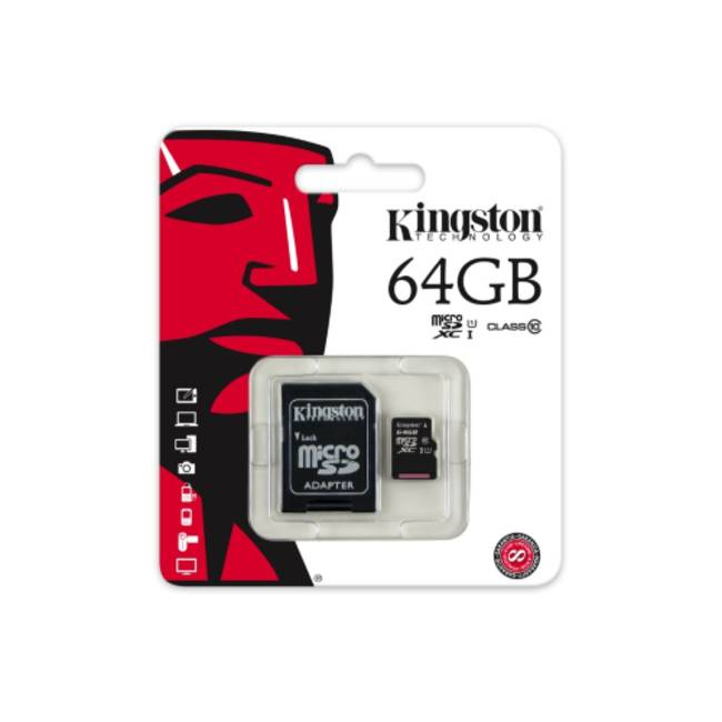 Kingston 64gb Micro Sdhc Class 10 Memory Card (sdc10g2/64gb)
