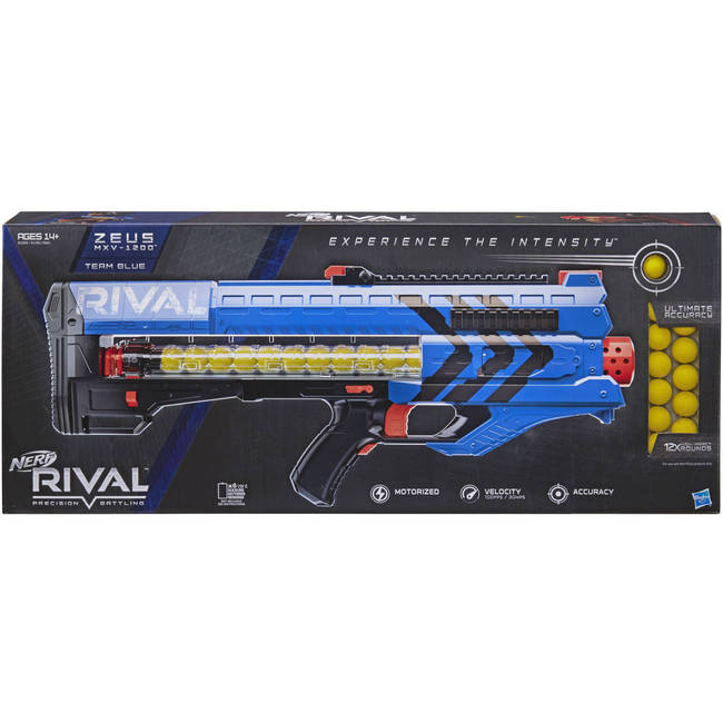 Nerf Rival Precision Battling Zeus Mxv-1200 Blaster Gun - Blue