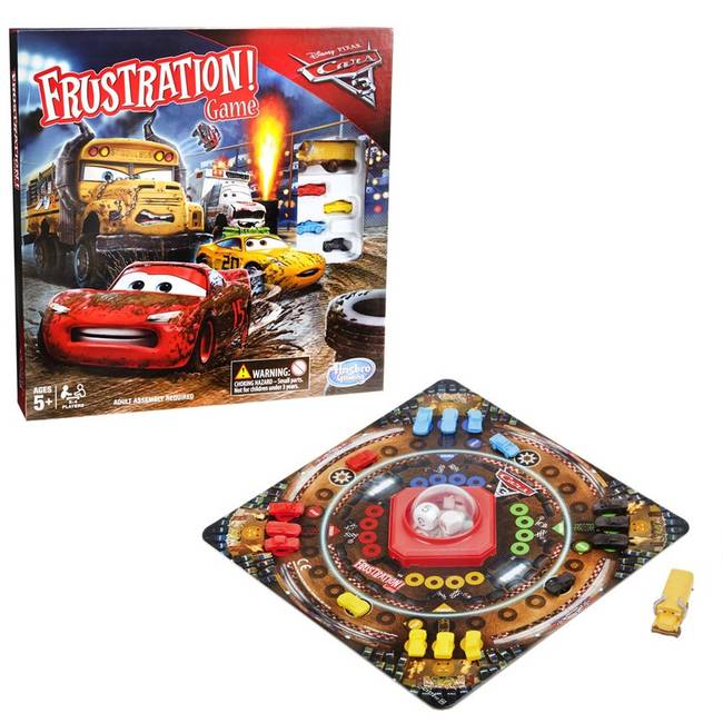 Frustration Disney Cars 3 Edition Board Game by Hasbro