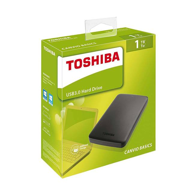 Toshiba Canvio Basics 1tb (1000gb) External Usb 3.0 Powered Hard Drive (hdtb310ek3aa)