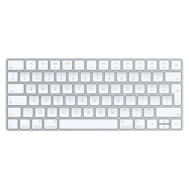 Apple Official Magic Keyboard Bluetooth Qwerty Uk English Silver & White Keyboard (mla22b/a)