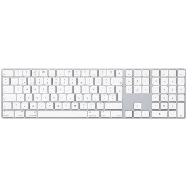 Apple Official Magic Bluetooth Qwerty Uk White Keyboard With Number Pad (mq052b/a)