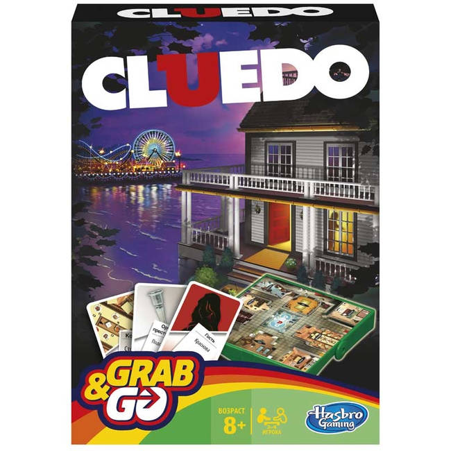 picture about Printable Clue Board Game Cards titled Cluedo (Clue) Get And Move Push Board Recreation / / Age 8+HasbroB0999