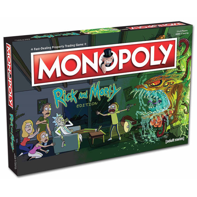 Monopoly Rick And Morty Edition Board Game By Winning Moves