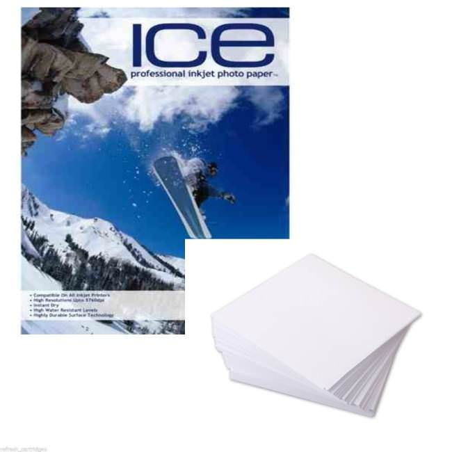 50 Sheets Double Sided A4 Matte Finish Photo Paper with Grain For Cards /& Photos