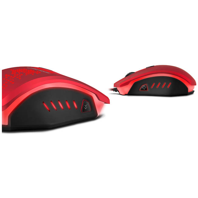 c6e7cb01308 Speedlink Ledos 3000dpi Optical Gaming Mouse, Red (SL-6393-RD)