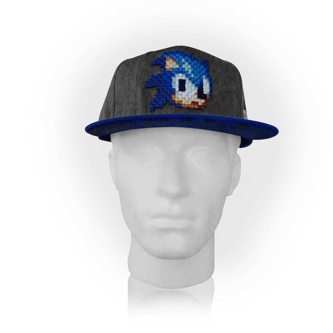 Sega Sonic The Hedgehog 2D Pixelated Head Snapback Baseball Cap  SegaBIO-SB0FNRSEG 913ffcb777b0