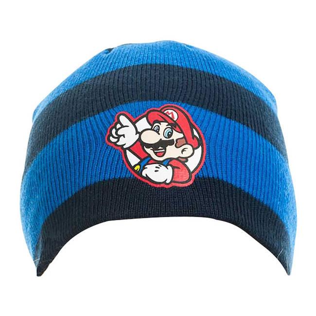 91cb342ce78 Nintendo Super Mario Bros. Striped Mario Badge Beanie NintendoBIO-KC08M0SMB