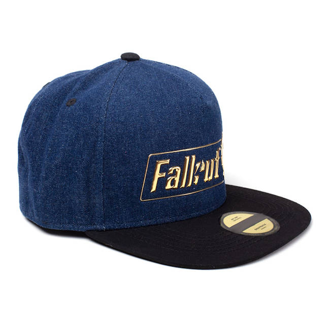 low priced 9fd72 3babe Fallout Official 76 Logo Badge Snapback Baseball Cap Unisex Blue   Black  SB320037FAL