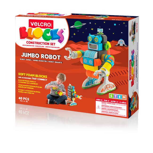 Velcro Brand Building Blocks Jumbo Robot STEM Learning Play  SetVelcroVEL-70191-WEU