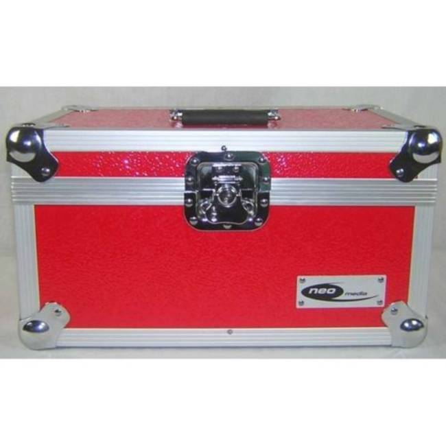 Neo 7 Inch Vinyl Record LP DJ Storage Case 200 Capacity with Partition -  Red Neo Zilla7LP200wp Red