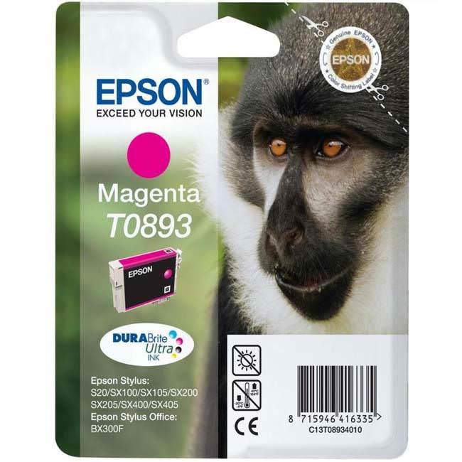Original Epson T0893 Magenta Ink Cartridge (c13t08934011)