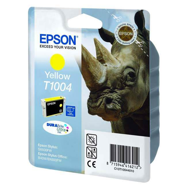 Original Epson T1004 Yellow Ink Cartridge (c13t10044010)