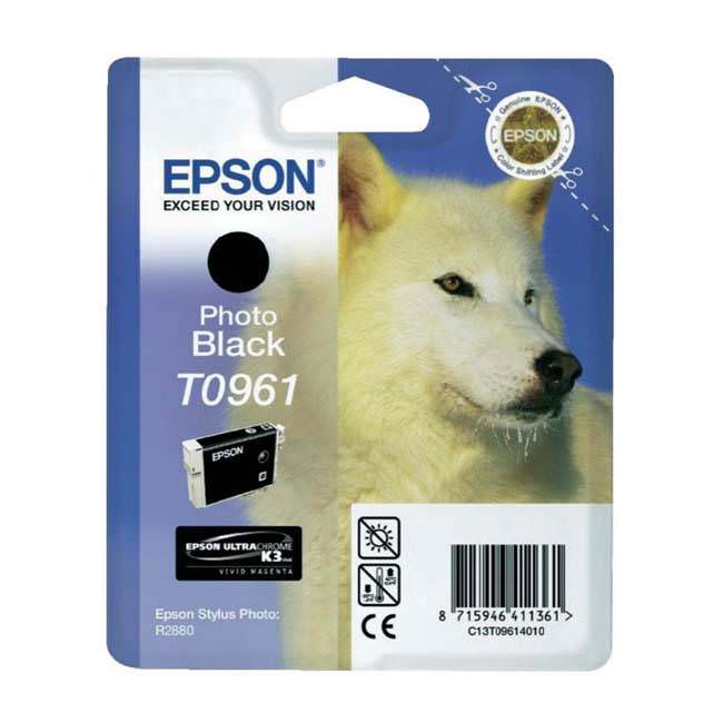 Original Epson T0961 Photo Black Ink Cartridge (c13t09614010)