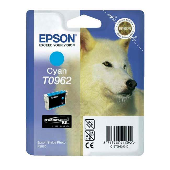 Original Epson T0962 Cyan Ink Cartridge (c13t09624010)