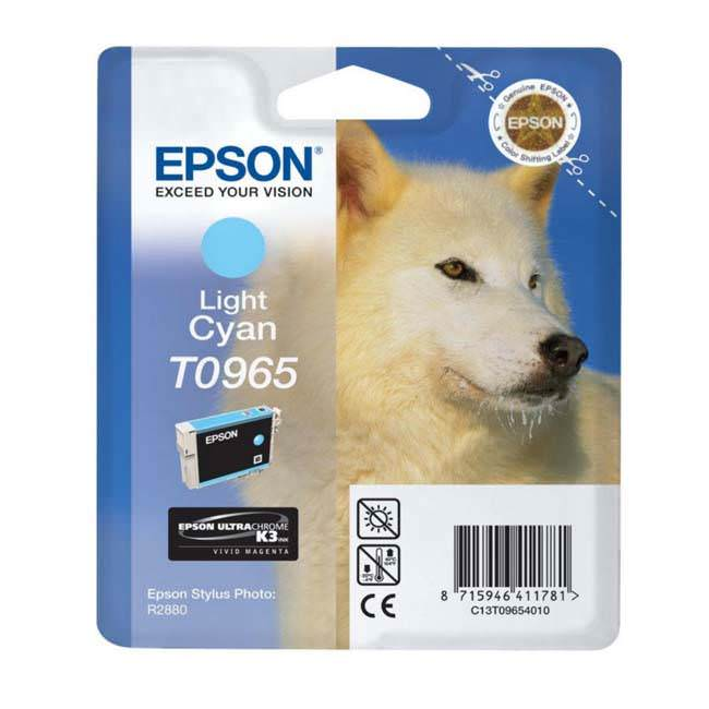 Original Epson T0965 Light Cyan Ink Cartridge (c13t09654010)