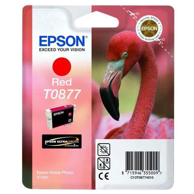 Original Epson T0877 Red Ink Cartridges (c13t08774010)